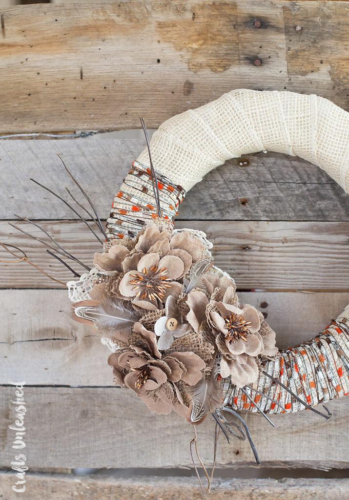 DIY Rustic Fall Wreath