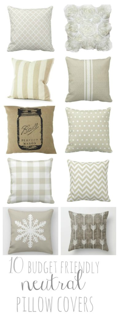 10 Budget Friendly Neutral Pillow Covers