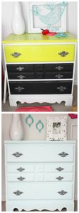 Beautiful Before and After Makeover using Chalk Paint and Spray Paint! Isn't it amazing what paint can do?
