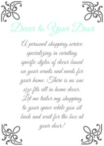 Decor to Your Door Personal Shopping Service