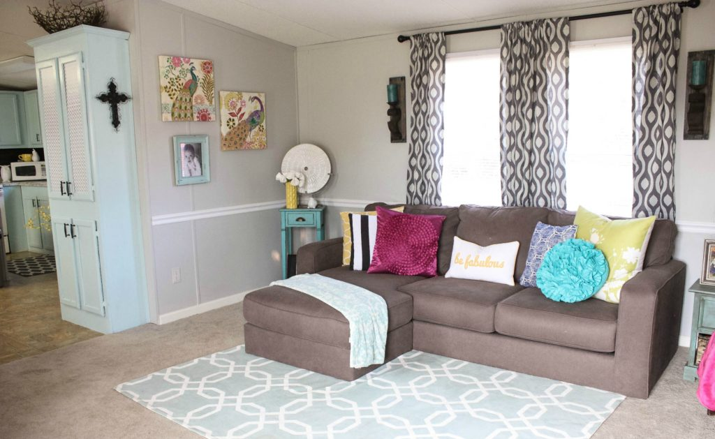 mobile home living room reveal re fabbed