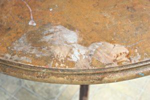 Table after nail polish disaster