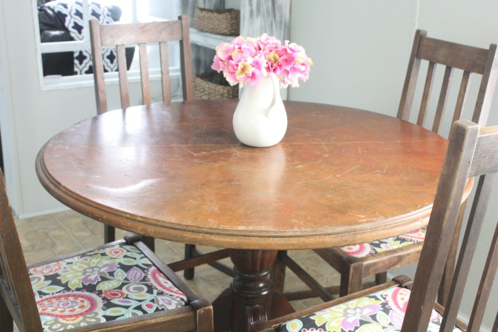 Table Makeover and a Life Lesson