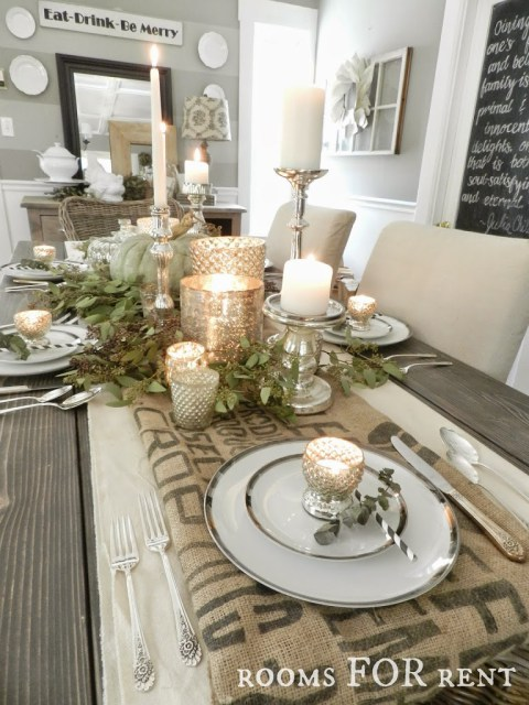 Thanksgiving Tablescape using neutral elements