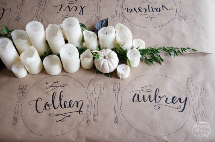 Beautiful Fall Tablescape with personalized seating