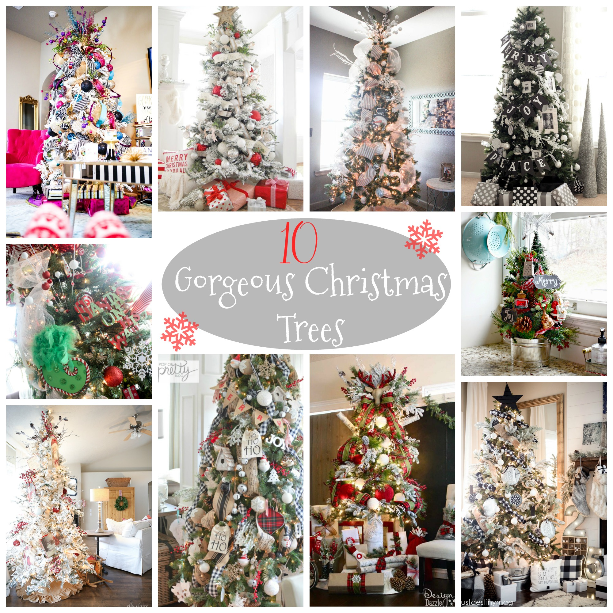 10 Gorgeous Christmas Trees - Re-Fabbed