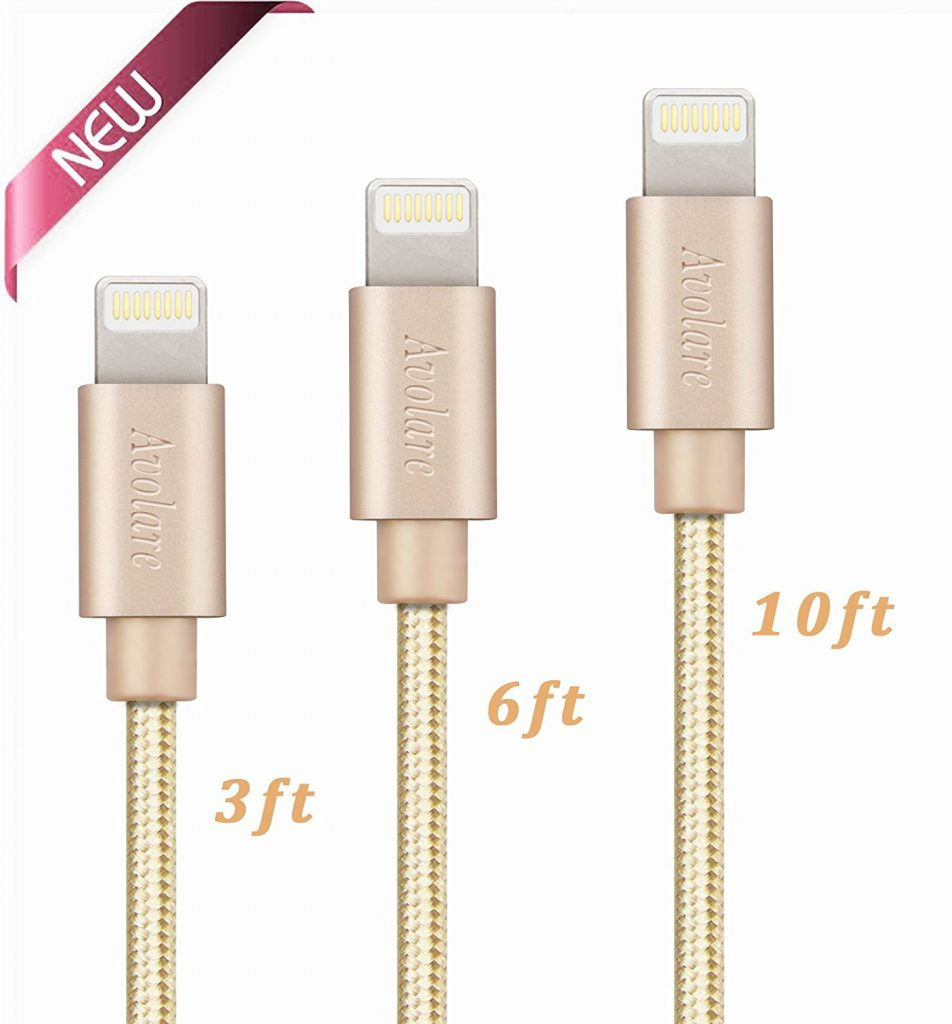 Gold Iphone chargers