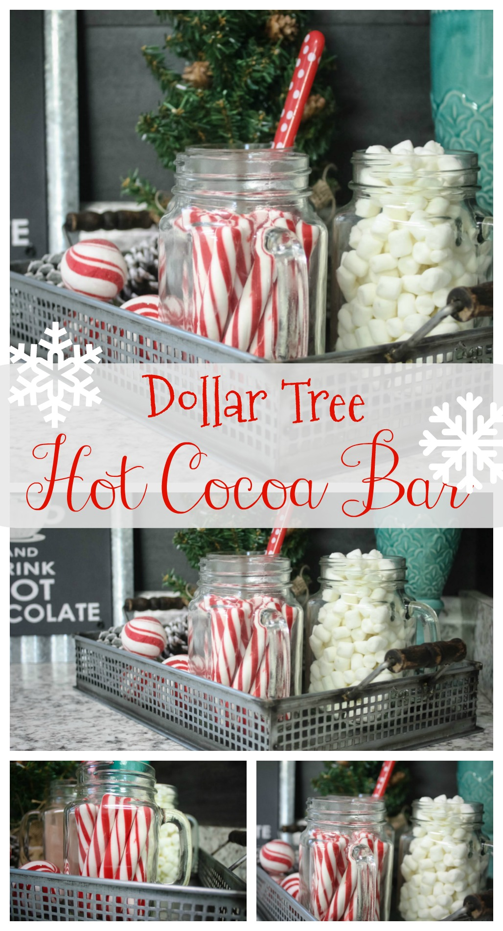 how to make a hot cocoa bar from dollar tree items you dont