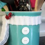DIY Snowman Utensil Holder