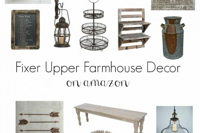 Fixer Upper Farmhouse Decor on Amazon