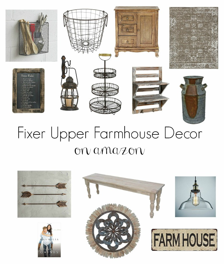 Fixer Upper Farmhouse Decor on Amazon