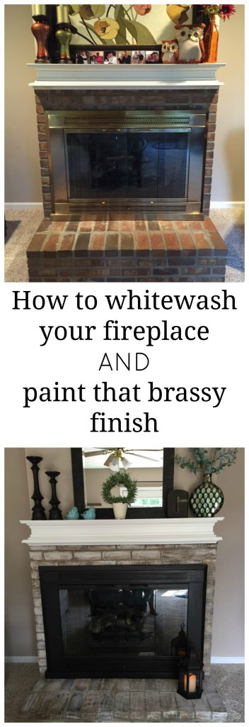 How to whitewash a fireplace AND how to paint over that brassy, outdated finish! This post has awesome information about updating your fireplace--all in 1 place!