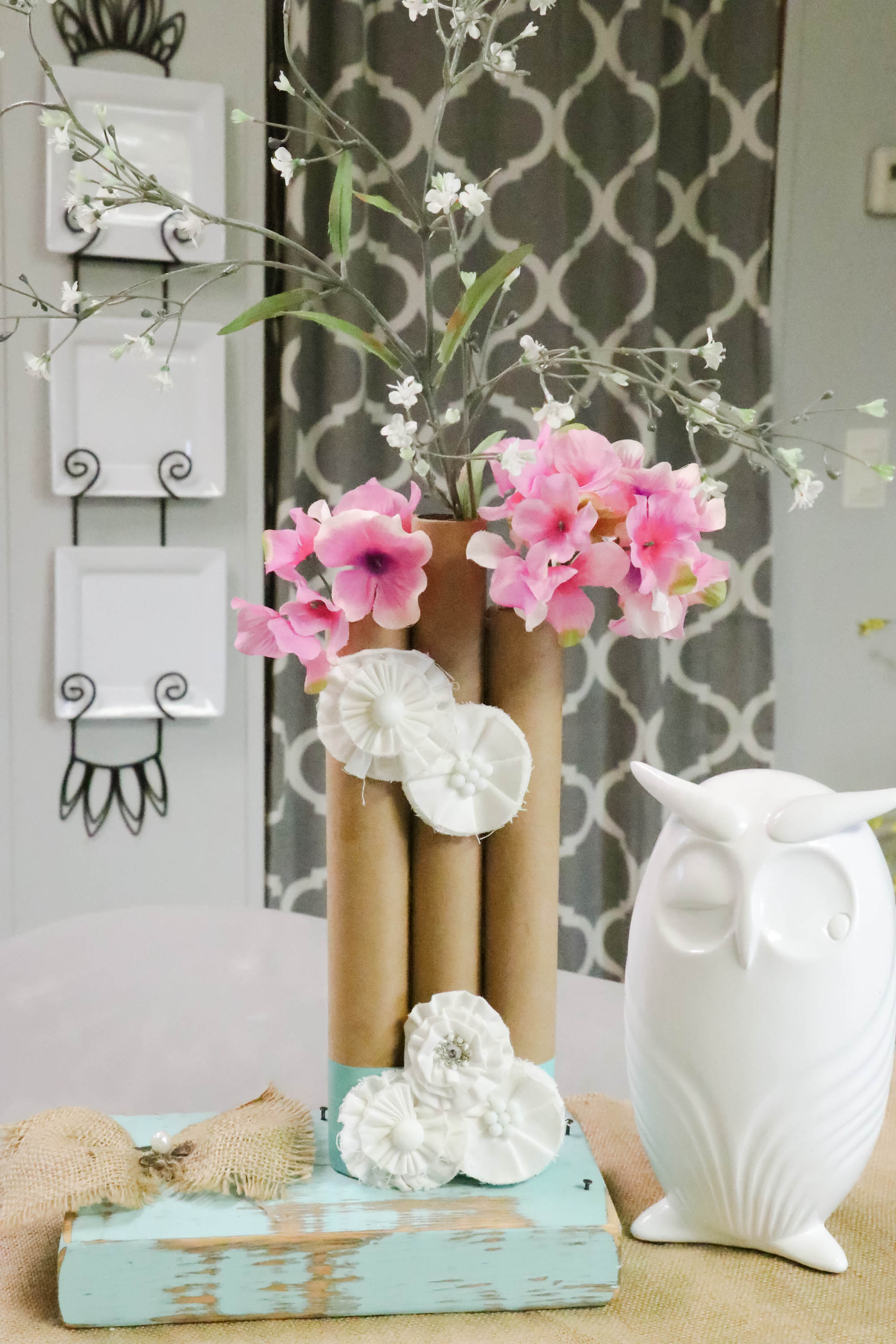 Paper Towel Roll Vases Re Fabbed