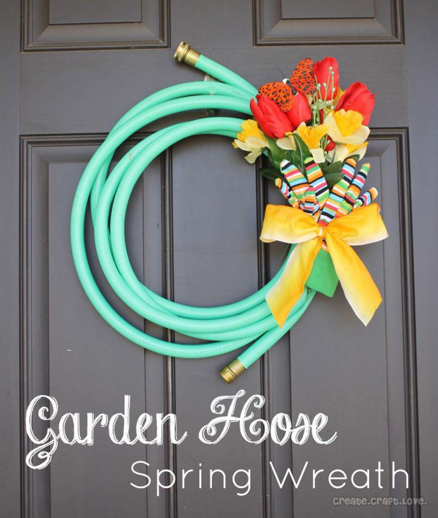 DIY Garden Hose Wrreath