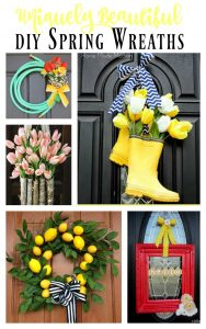 This is an amazing collection of unique and gorgeous DIY Spring Wreaths!