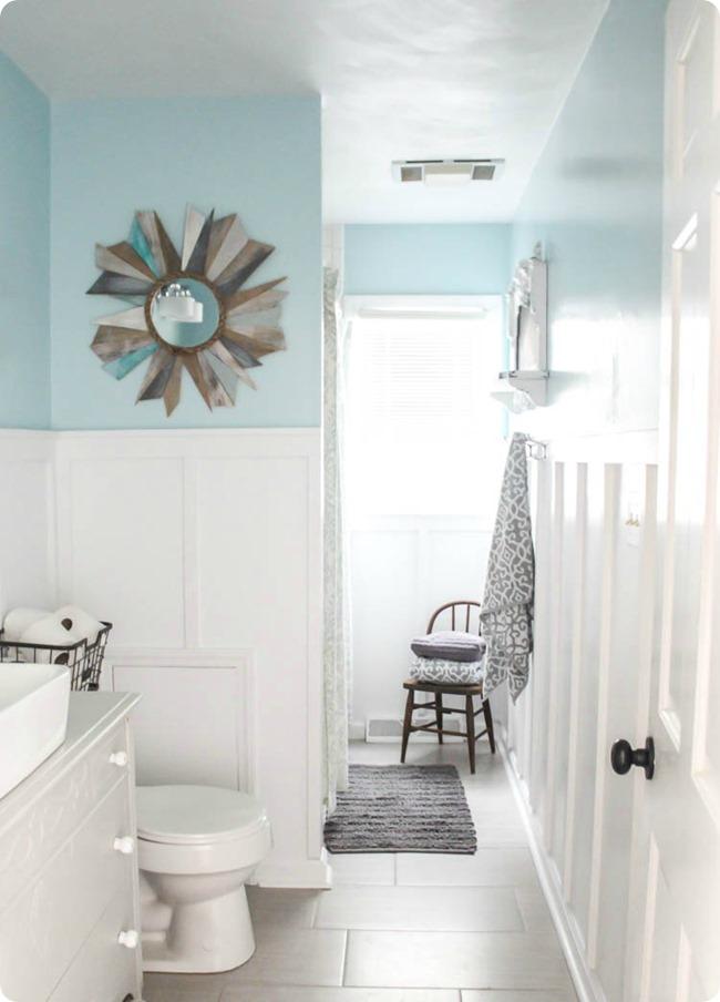 Board and Batten Farmhouse Bathroom Makeover