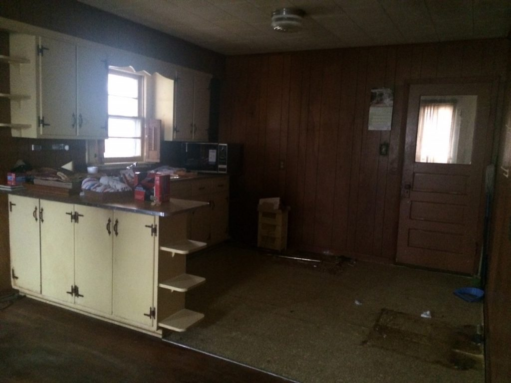 fixer upper home before picture-kitchen
