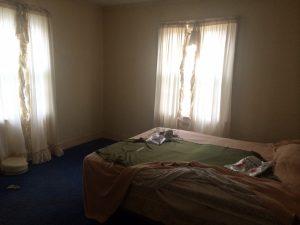 fixer upper house-bedroom before