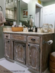 Low Cost Rustic Bathroom Makeover