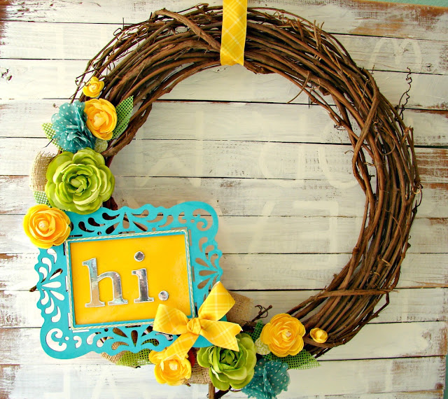 DIY Colorful Wreath