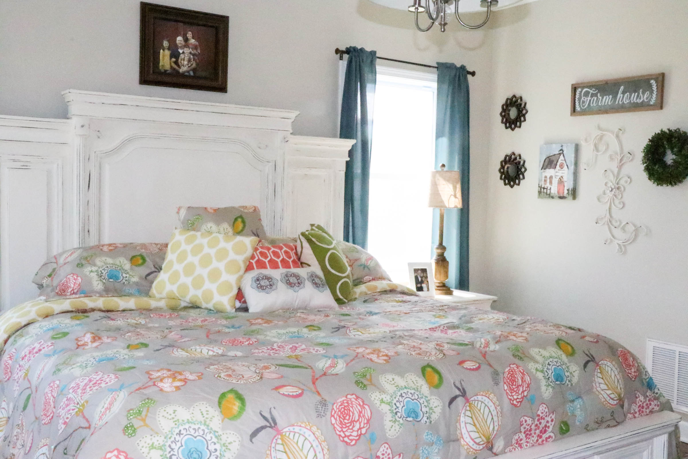 Aqua Amp Coral Master Bedroom Makeover Re Fabbed