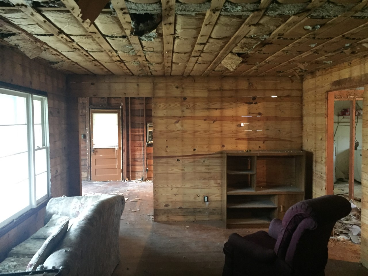 An unexpected surprise at the cottage charmer revealed SHIPLAP!