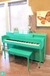 Painted Piano Tutorial-The Magic Brush