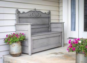 Re-Purposed Headboard Bench