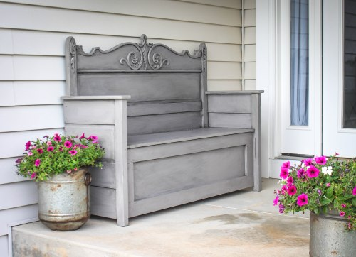 Re-Purposed Headboard Bench
