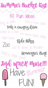 List of 50 fun ideas to do this summer! Full of ideas for family, kids and dates! Check out this awesome list! Must pin to remember.