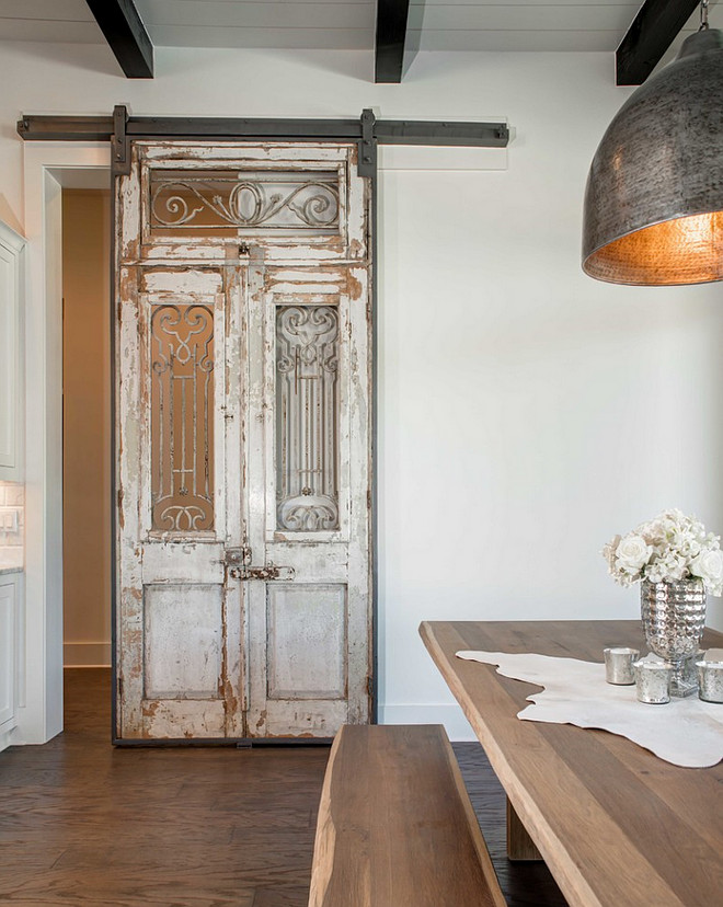 Calling all lovers of Farmhouse goodness!!! Prepare to be inspired by rooms  full - Antique-Barn-Door.-Antique-Sliding-Barn-Door.-Antique-Sliding-Barn