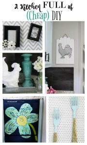 This kitchen is chalked FULL of amazing DIYs on a super tight budget! This is a definite must save!