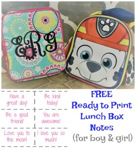 Lunchbox notes for children are an easy and sweet way to bring a smile to your child in the middle of their school day. These are ready to be printed and FREE!