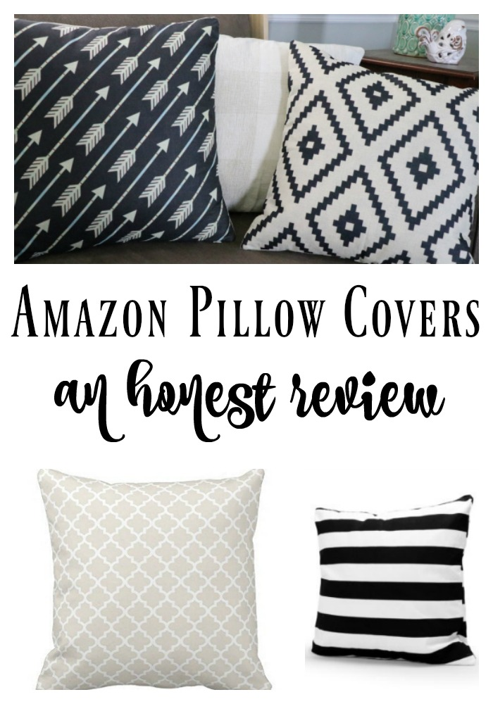 A blogger's honest review of cheap Amazon Pillow Covers! I love how honest she was. There is good and bad! Great pin.