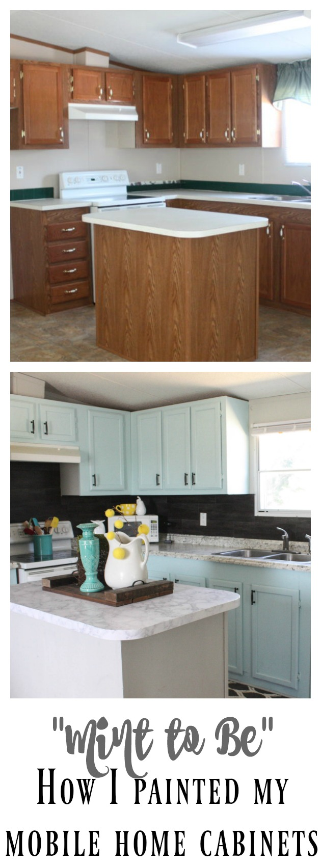 What Are Mobile Home Cabinets Made Of Part - 35: Mobile Home Cabinet Makeover Using Mint To Be By Valspar! Get The Ins And  Outs