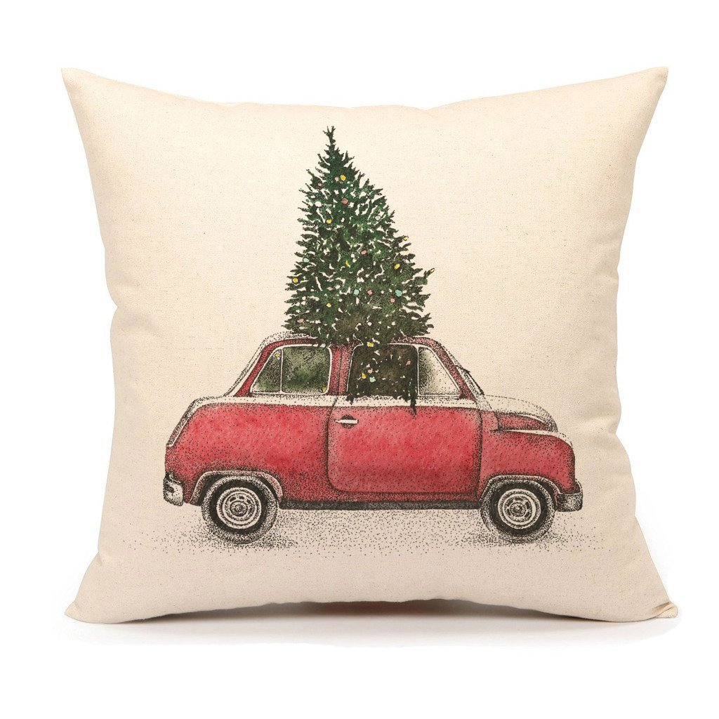 Throw Pillow Covers Farmhouse : Farmhouse Christmas Pillow Covers - Re-Fabbed