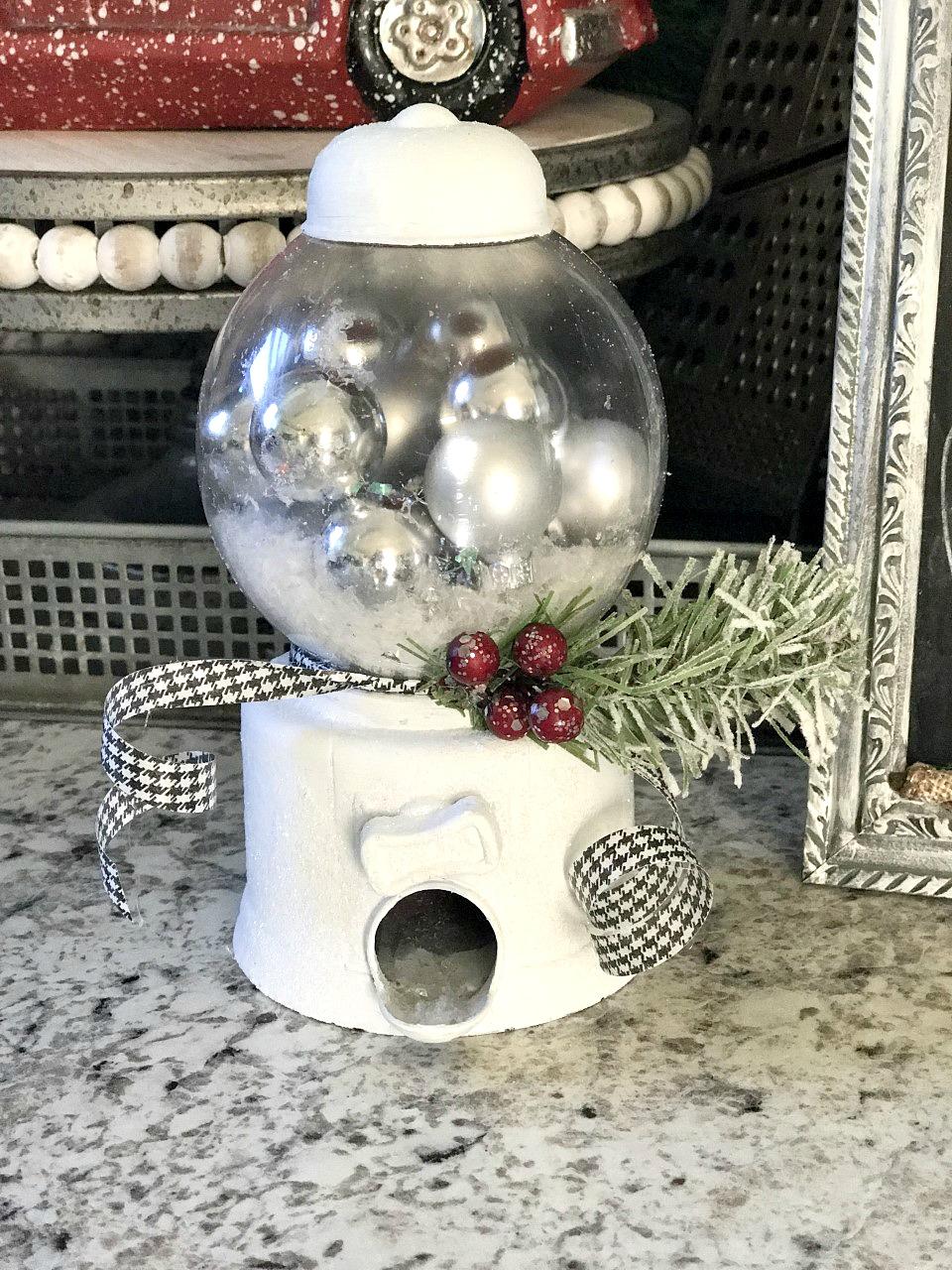 DIY Dollar Tree Snow Globe