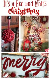 A beautiful and funky red and white Christmas!
