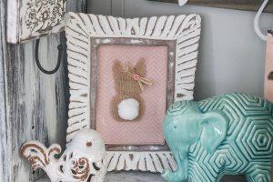 Fast and easy DIY burlap bunny rabbit!