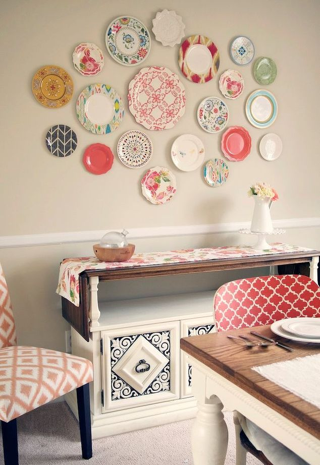 Plastic Plate Wall Home Decor