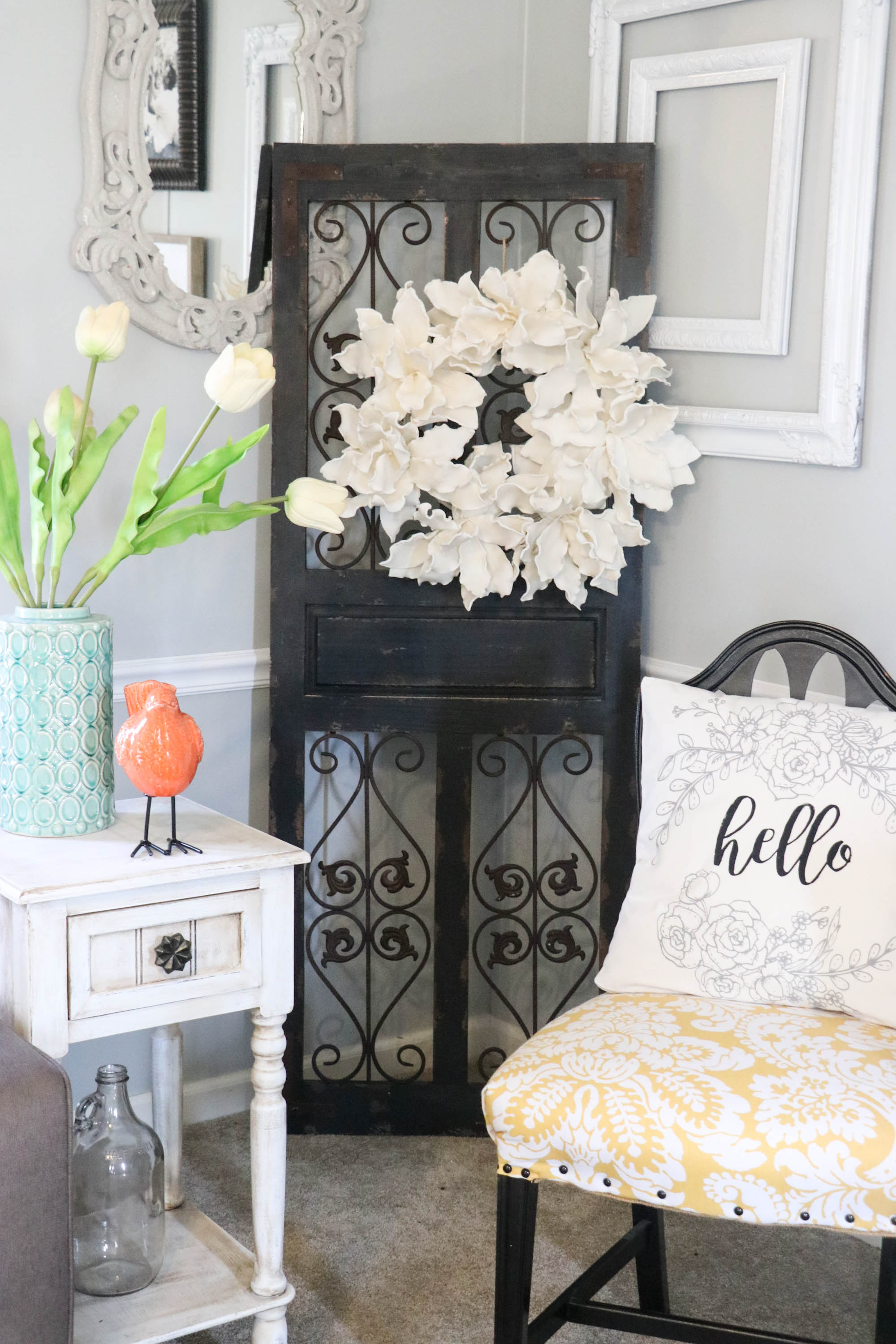 Spring decorating doesn't have to be over the top. Just adding a few colorful touches can change your entire look, on a dime!