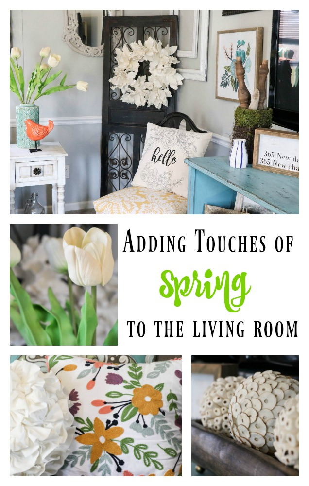 Spring living room decorating doesn't have to be over the top. Just adding a few colorful touches can change your entire look, on a dime!
