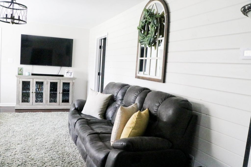 """The most amazing transformation of a cottage charmer home that I have seen. It is truly unreal the difference. And what a gorgeous neutral """"Behr Mineral"""" wall color provided by Behr Paint! AMAZING!"""