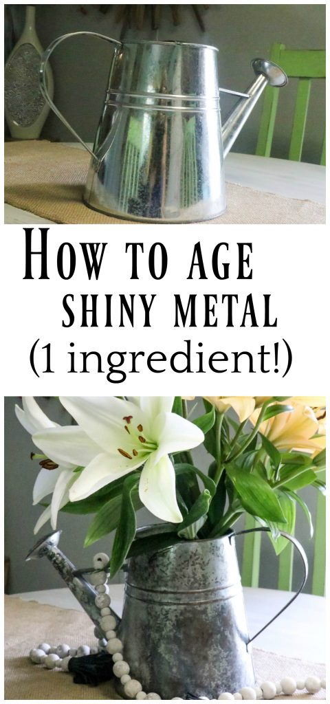 how to age galvanized metal/age shiny metal/rusted shiny metal/how to age metal