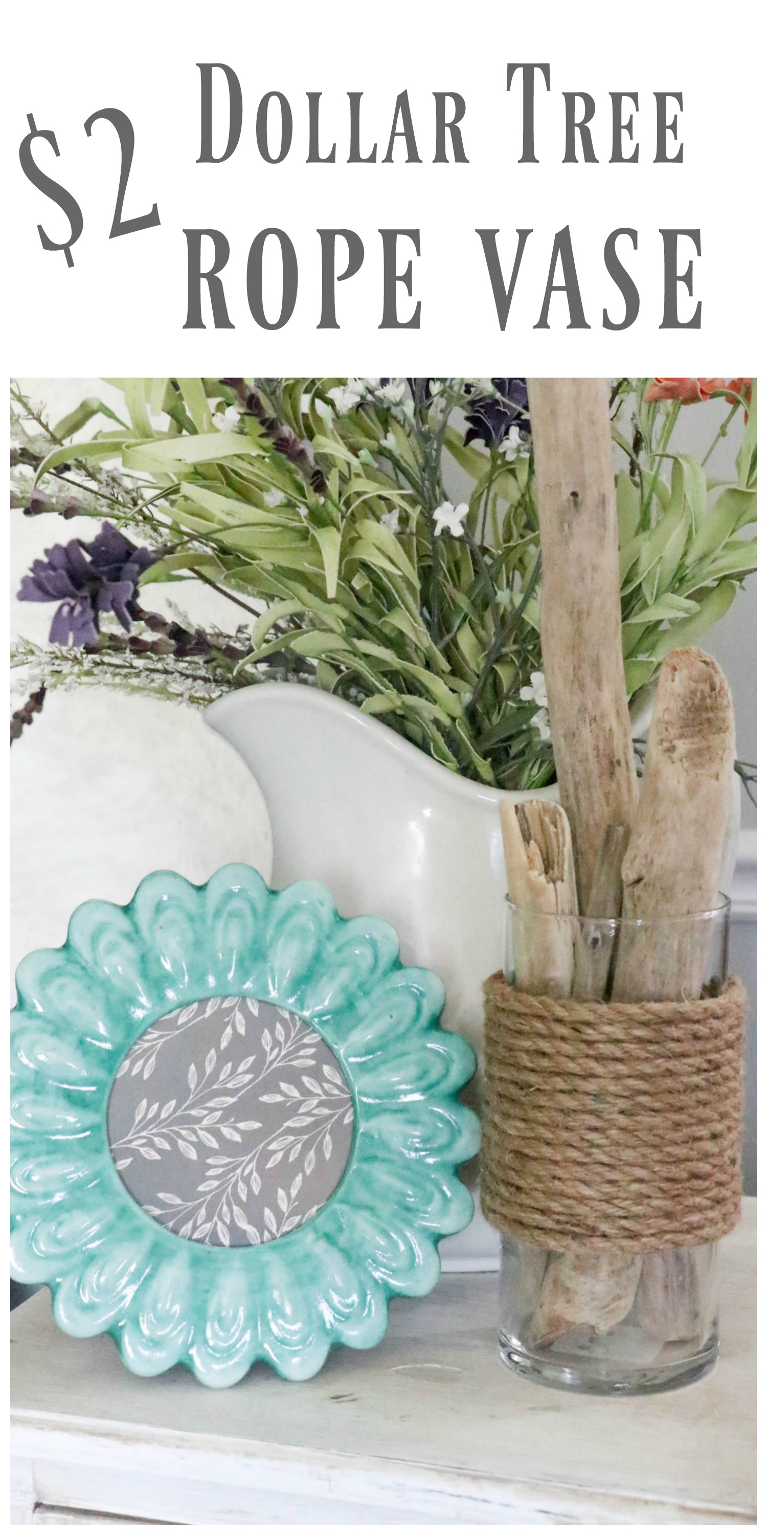 Diy Dollar Tree Rope Vase A Nautical Diy You Are Sure To Love Re Fabbed