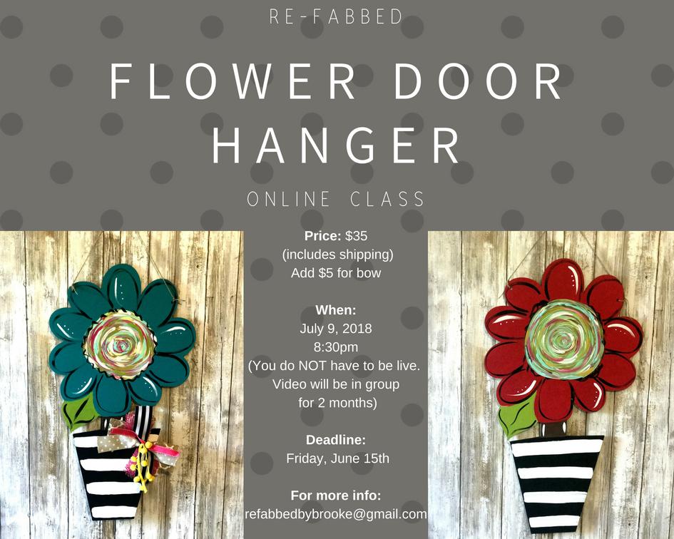 Flower Door Hanger Class