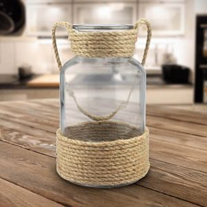 diy dollar tree rope vase/rope vase/diy nautical vase