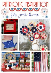 Beautiful Patriotic Home Inspiration from all of your favorite bloggers on Pinterest!