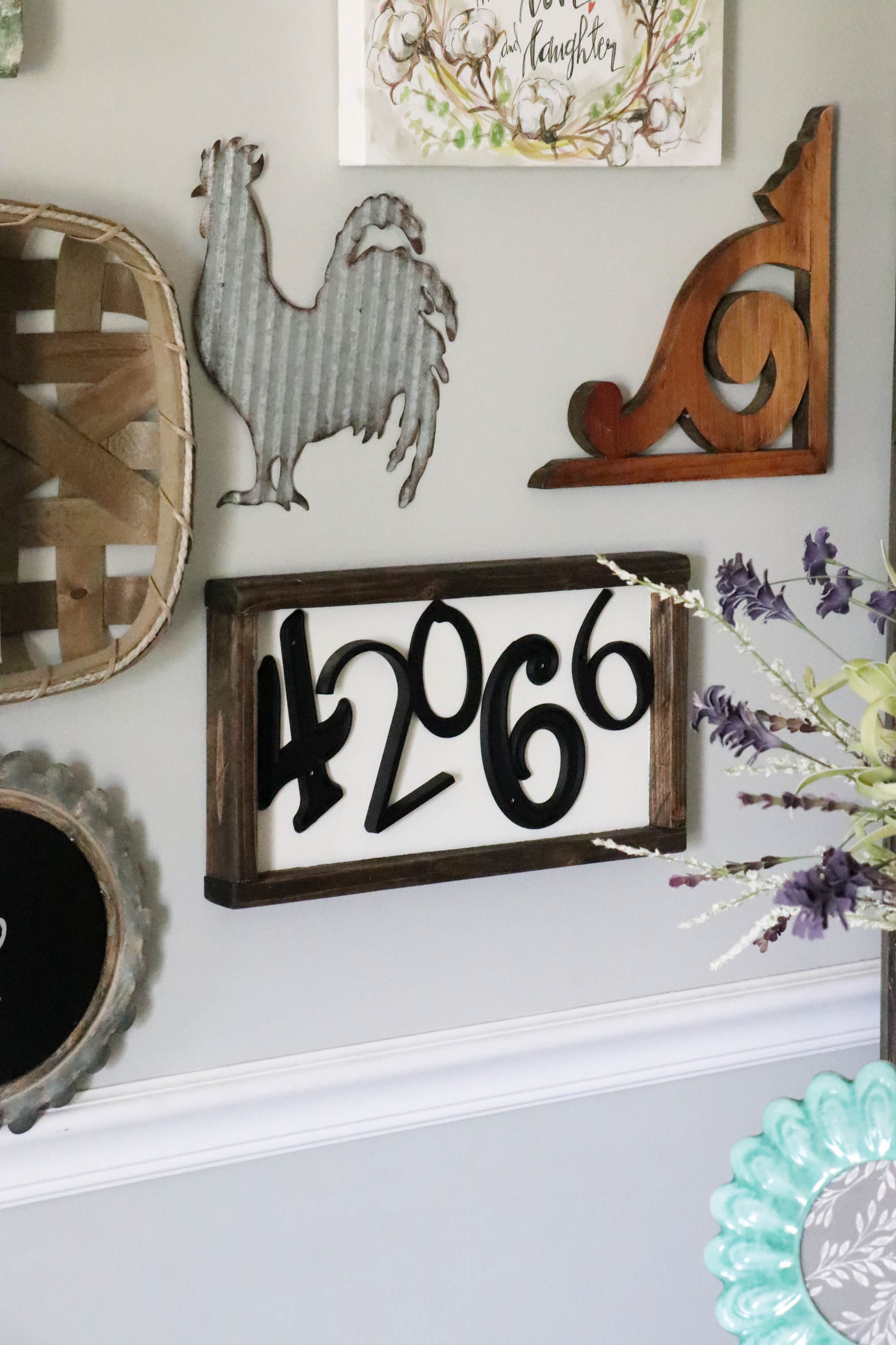 DIY Zip Code Wood Sign