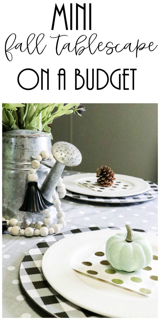 budget friendly fall tablescape image